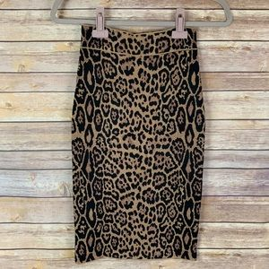 3/$30 BCBG MaxAzria S Leopard Print Pencil Skirt